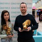 Jurdi Leila és Gelley Bálint, a 2. CINEMIRA Nemzetközi Gyerekfilm Fesztivál (2019) nyertesei. Fotó: Varga Gábor Vargosz