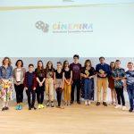 A CINEMIRA szakmai nap gyerekzsűrije, házigazdái és nyertesei. Fotó: Posztós János